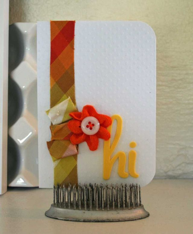 Silk flower hi card