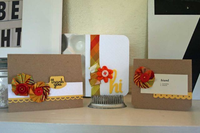 Silk ribbon cards